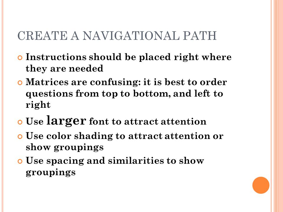 CREATE A NAVIGATIONAL PATH