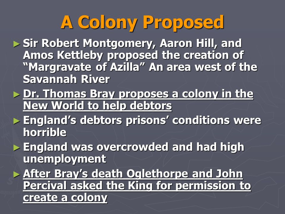 A Colony Proposed