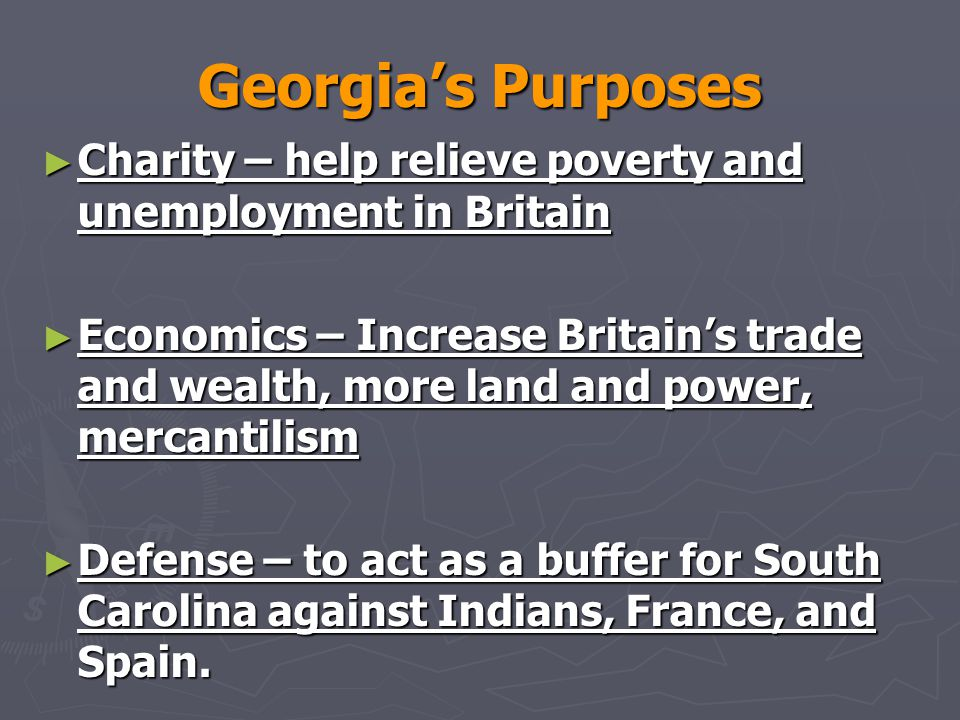 Georgia's Purposes Charity – help relieve poverty and unemployment in Britain.