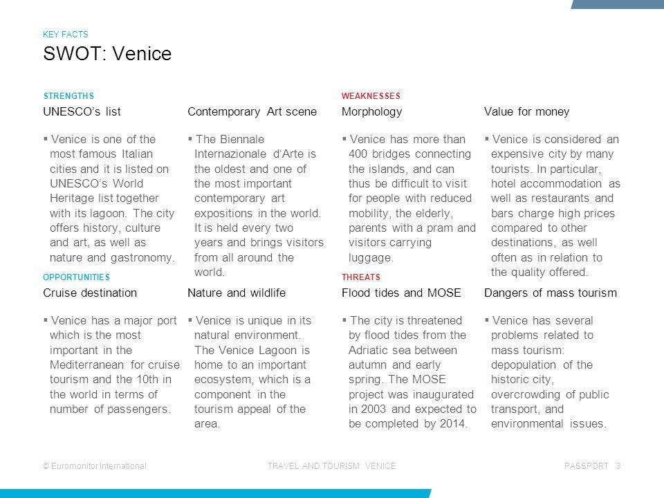 SWOT: Venice UNESCO's list Contemporary Art scene Morphology
