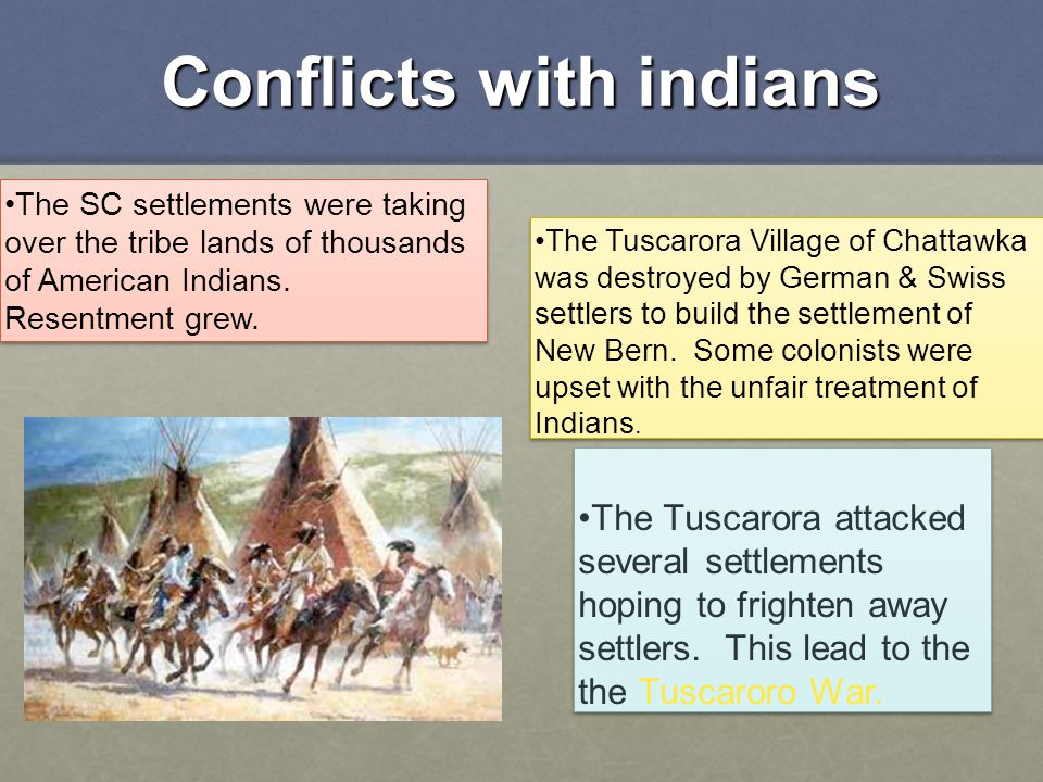Conflicts with indians