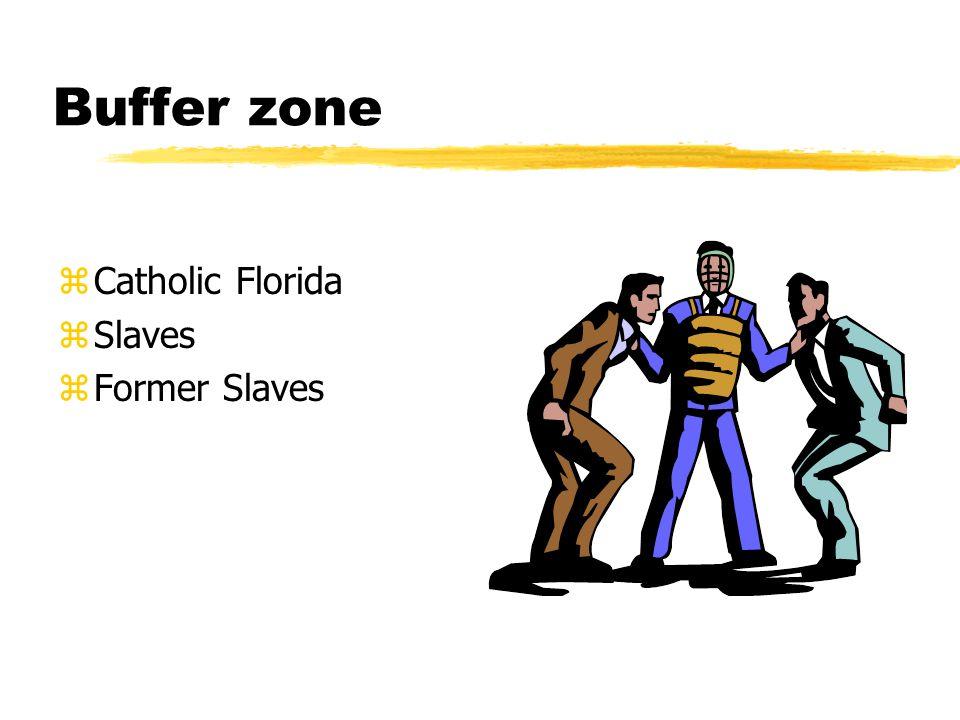 Buffer zone Catholic Florida Slaves Former Slaves