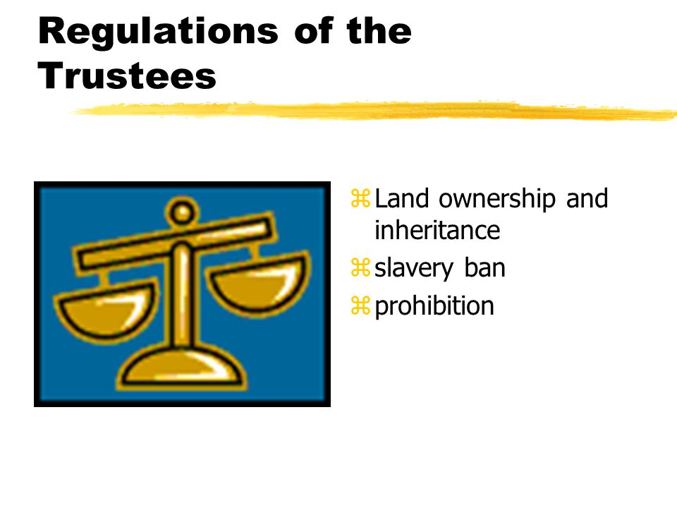 Regulations of the Trustees