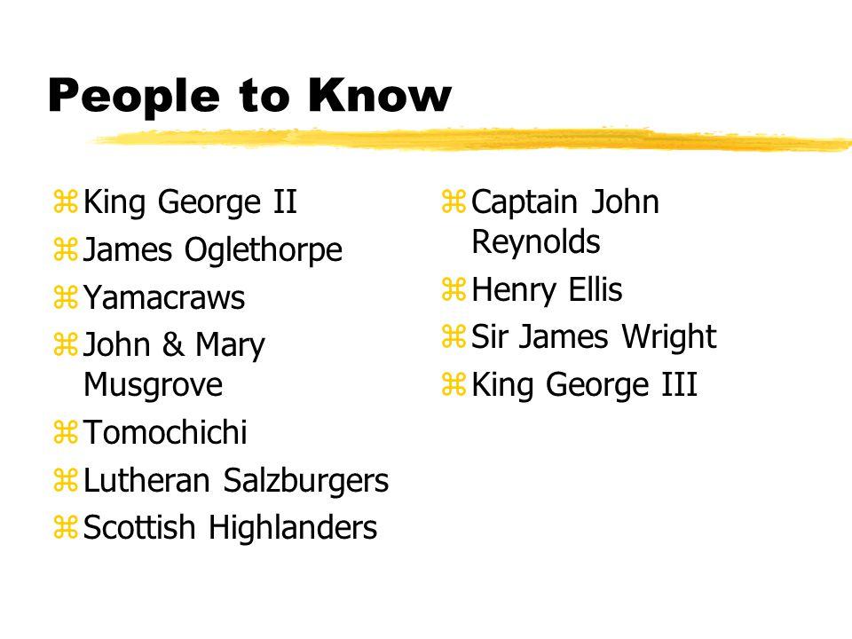People to Know King George II James Oglethorpe Yamacraws