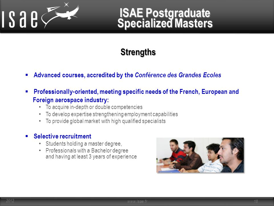 ISAE Postgraduate Specialized Masters