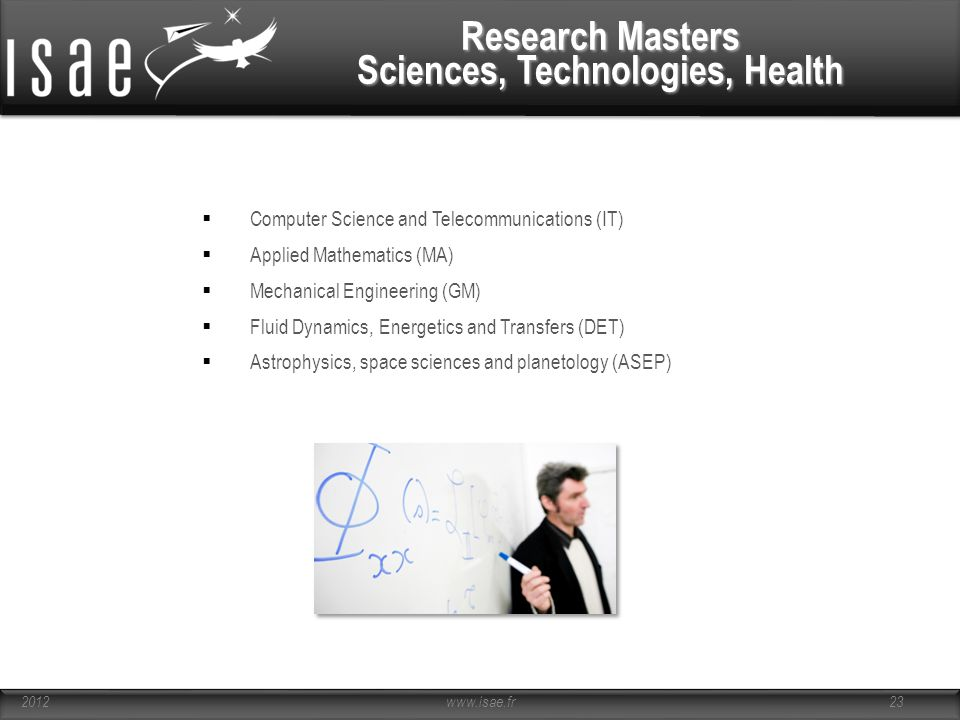 Research Masters Sciences, Technologies, Health