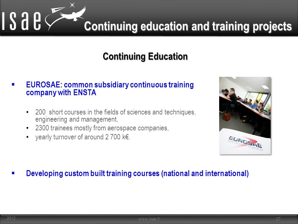 Continuing education and training projects