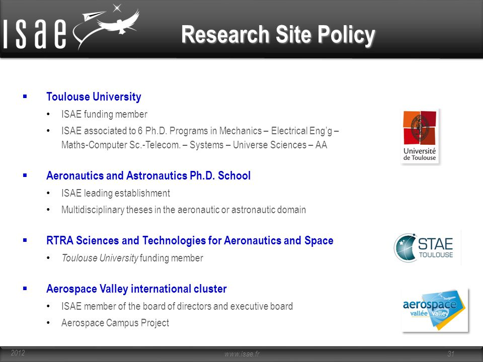 Research Site Policy Toulouse University