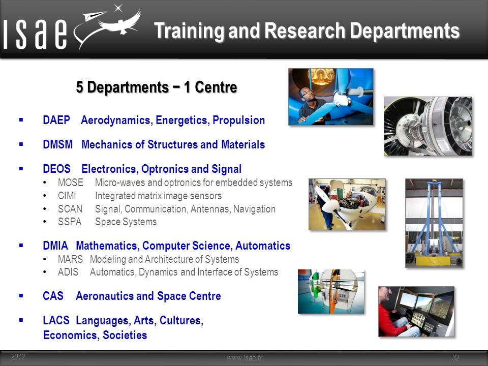 Training and Research Departments
