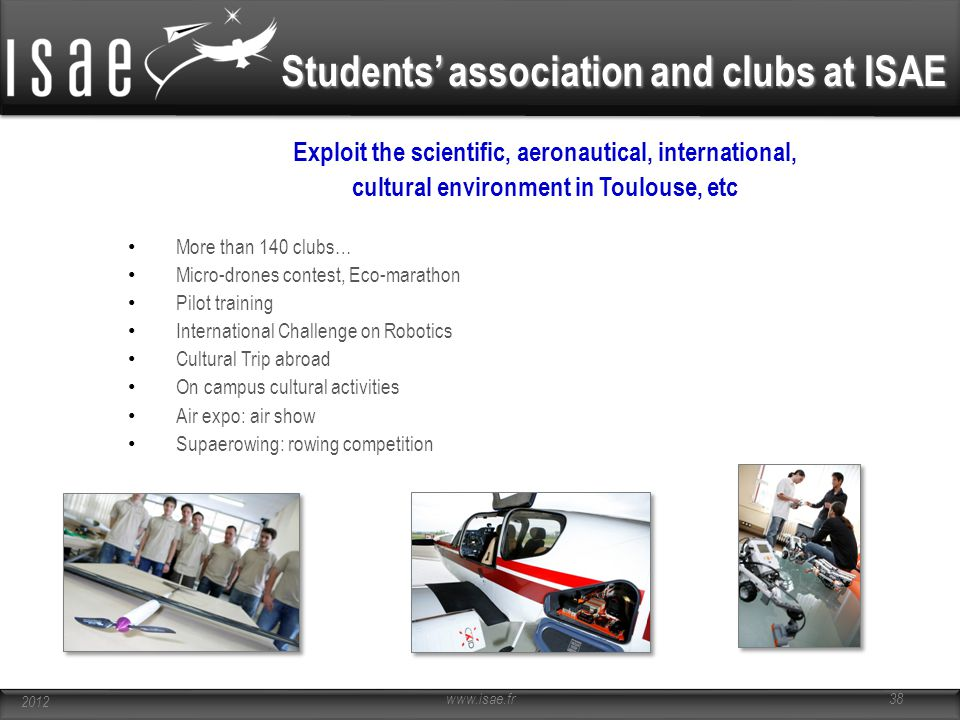 Students' association and clubs at ISAE