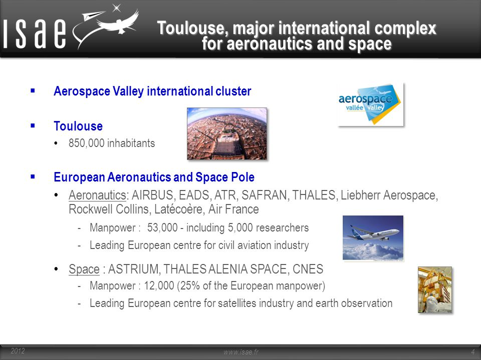 Toulouse, major international complex for aeronautics and space