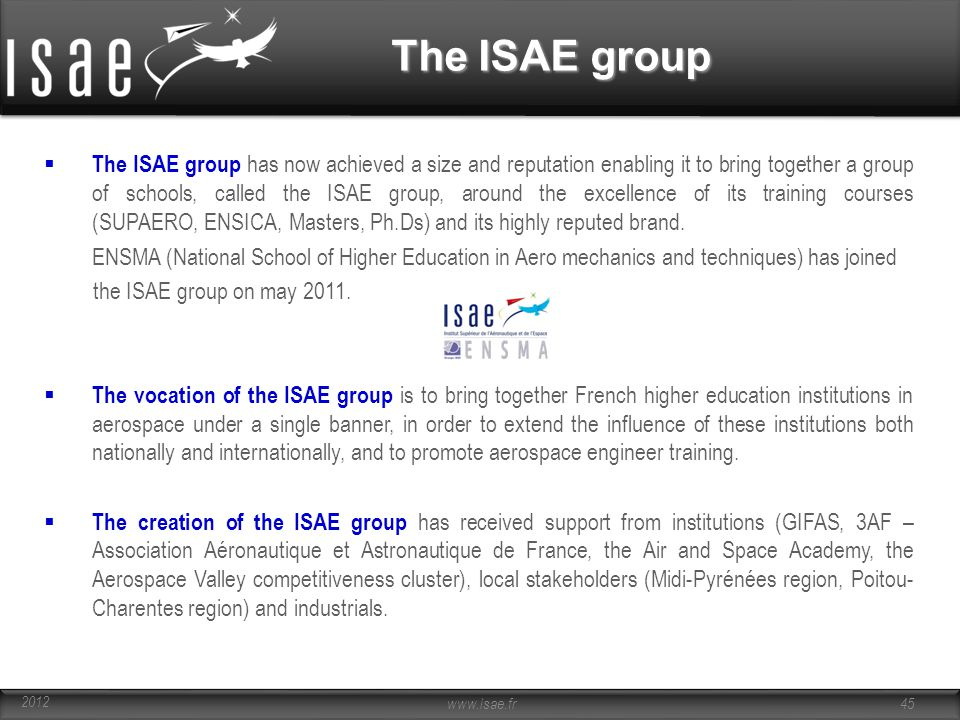 The ISAE group