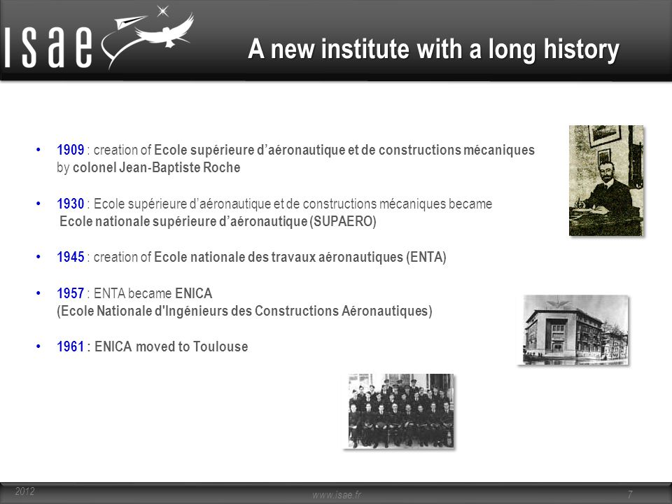 A new institute with a long history