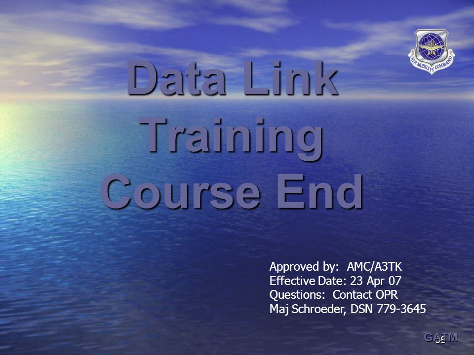 Data Link Training Course End