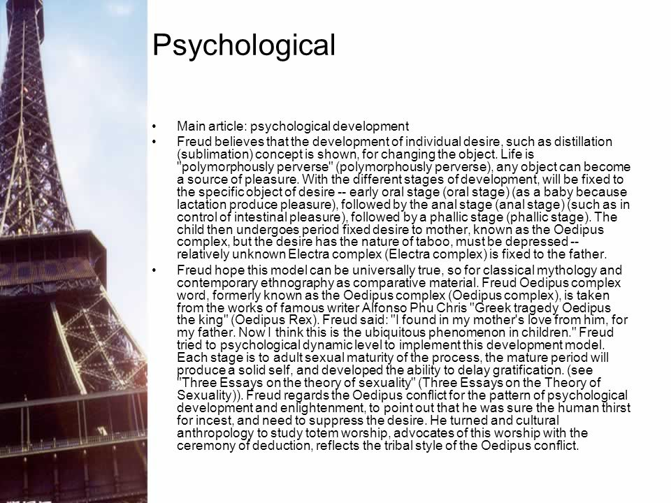 Psychological Main article: psychological development