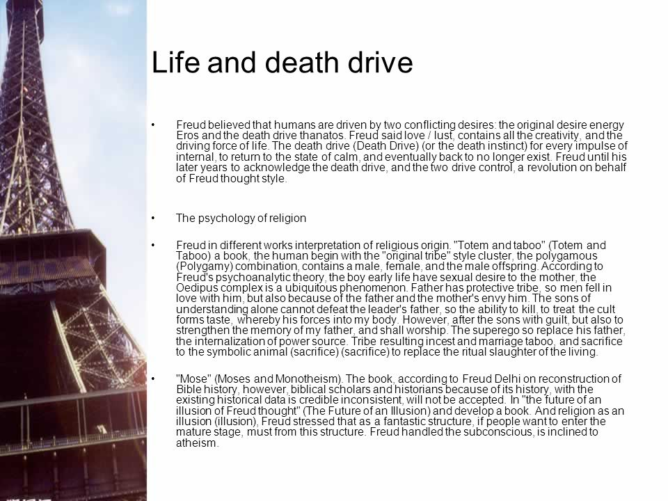 Life and death drive