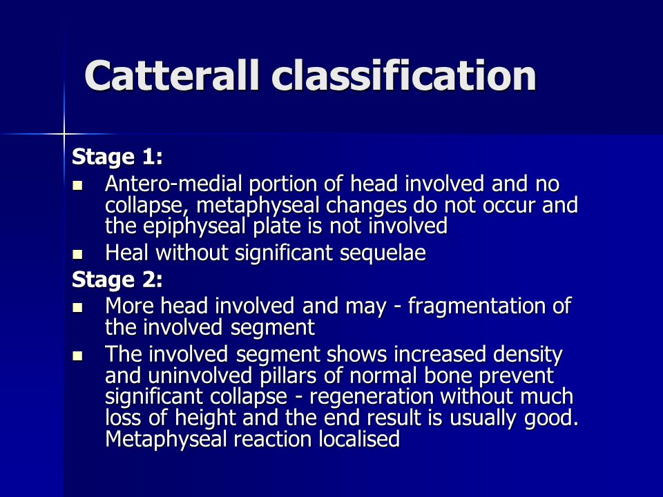 Catterall classification