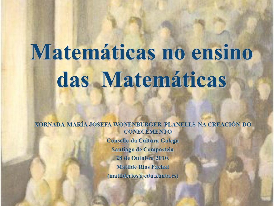 Matemáticas no ensino das Matemáticas
