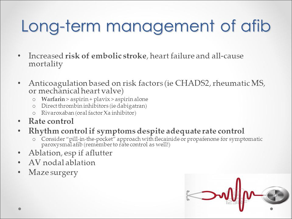 Long-term management of afib
