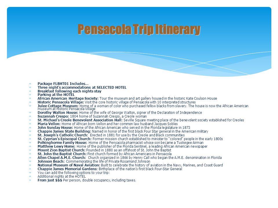Pensacola Trip Itinerary