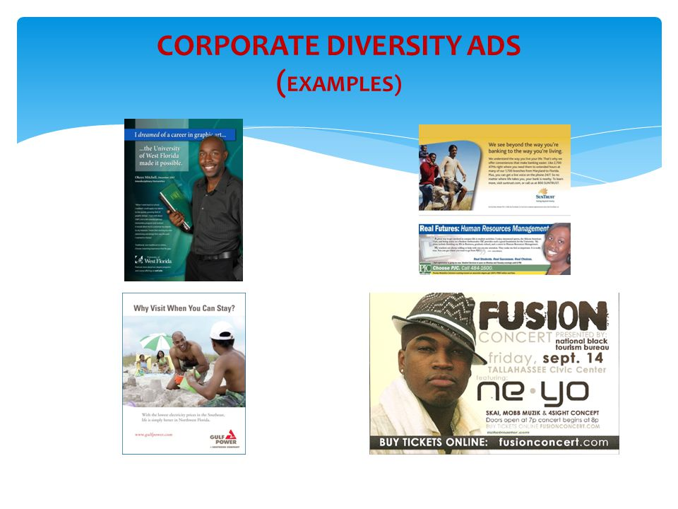 CORPORATE DIVERSITY ADS (EXAMPLES)