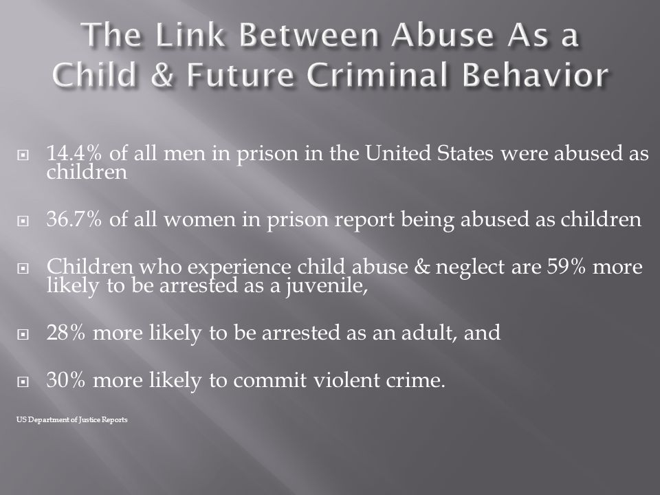 The Link Between Abuse As a Child & Future Criminal Behavior