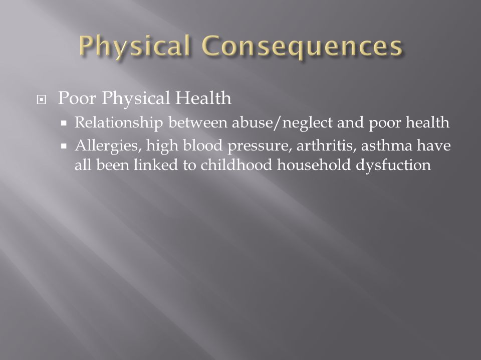 Physical Consequences