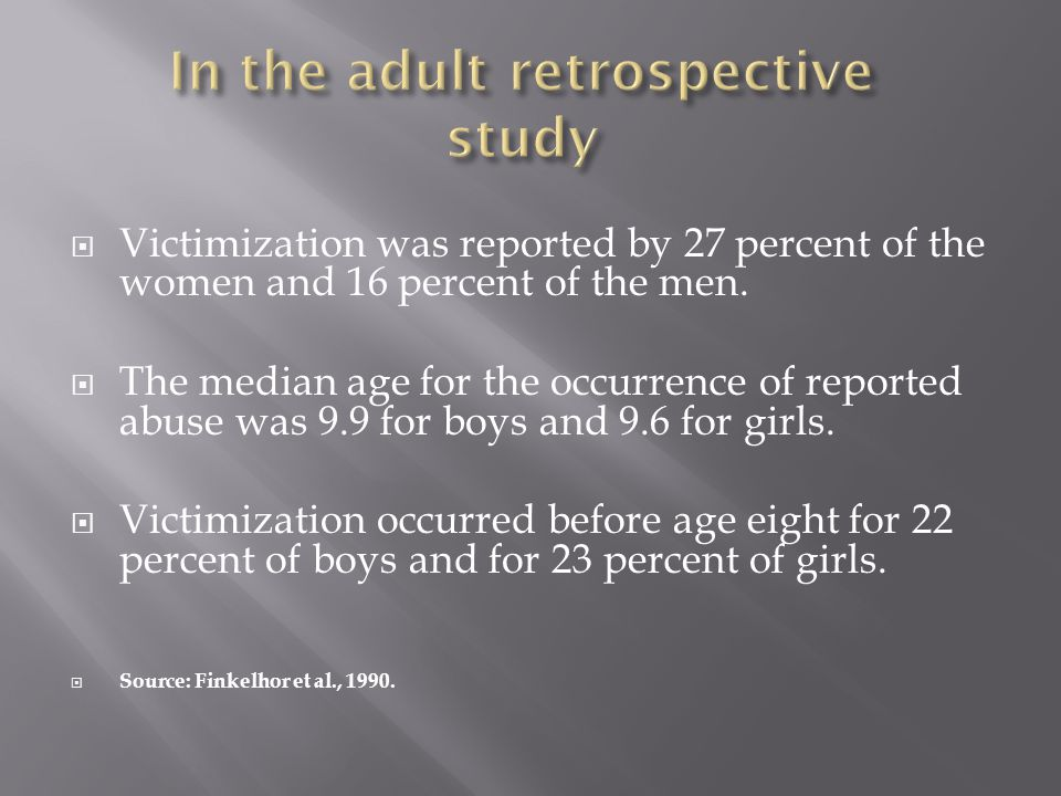 In the adult retrospective study