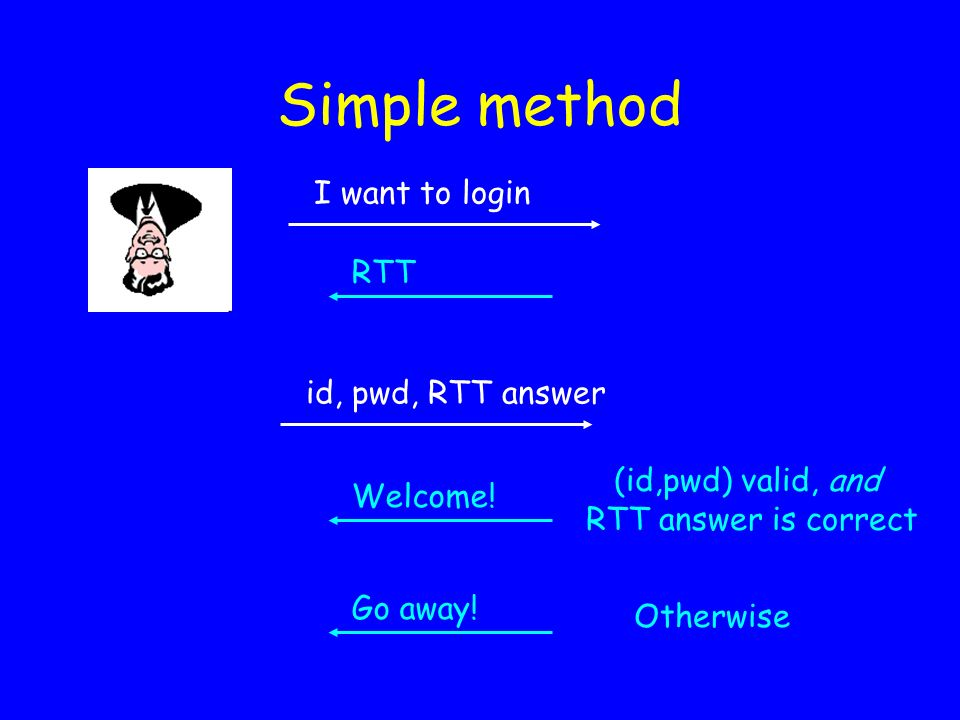 Simple method I want to login RTT id, pwd, RTT answer