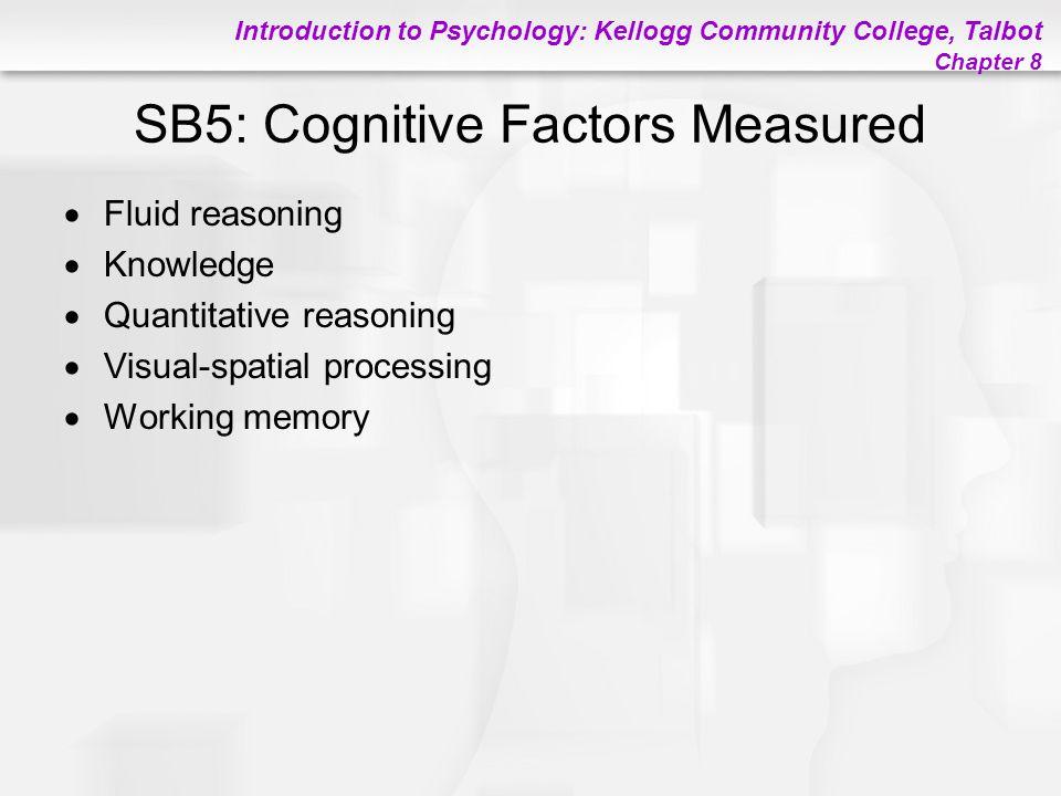 SB5: Cognitive Factors Measured