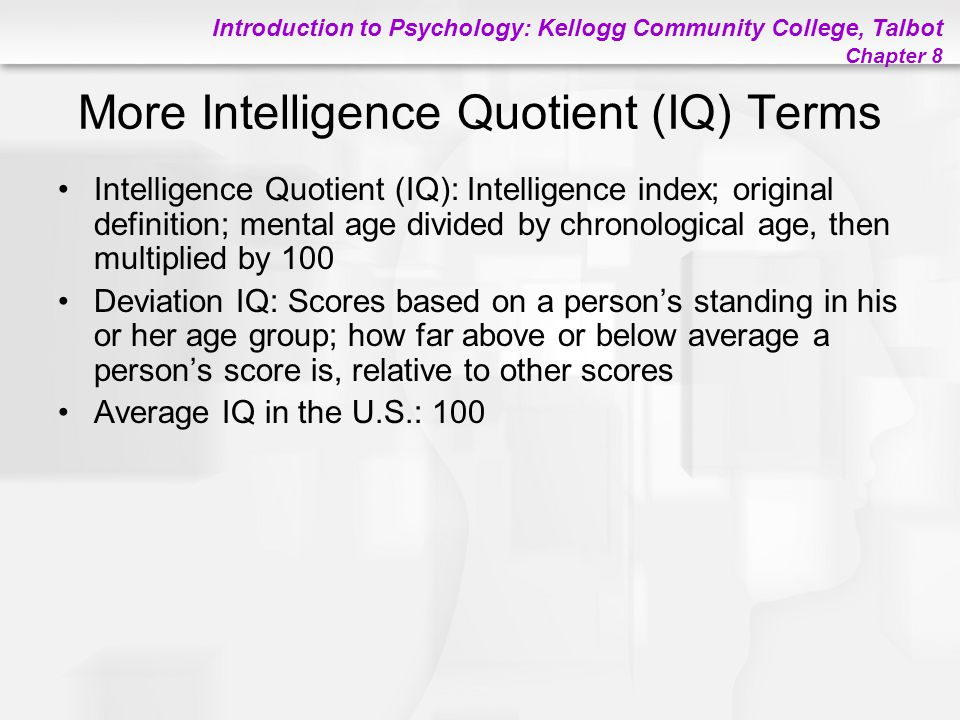 More Intelligence Quotient (IQ) Terms