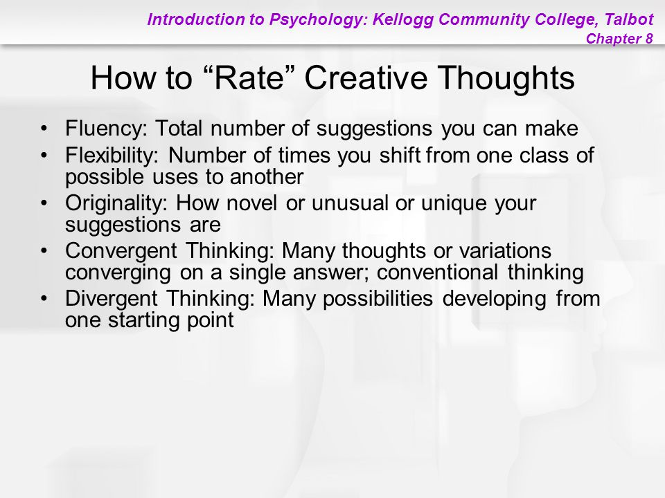 How to Rate Creative Thoughts