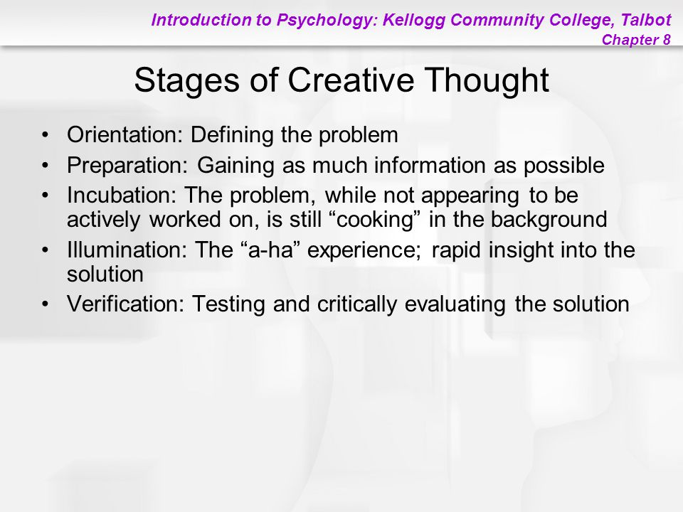 Stages of Creative Thought