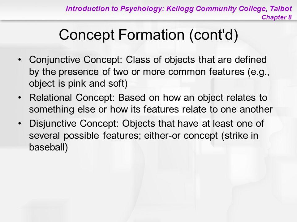 Concept Formation (cont d)