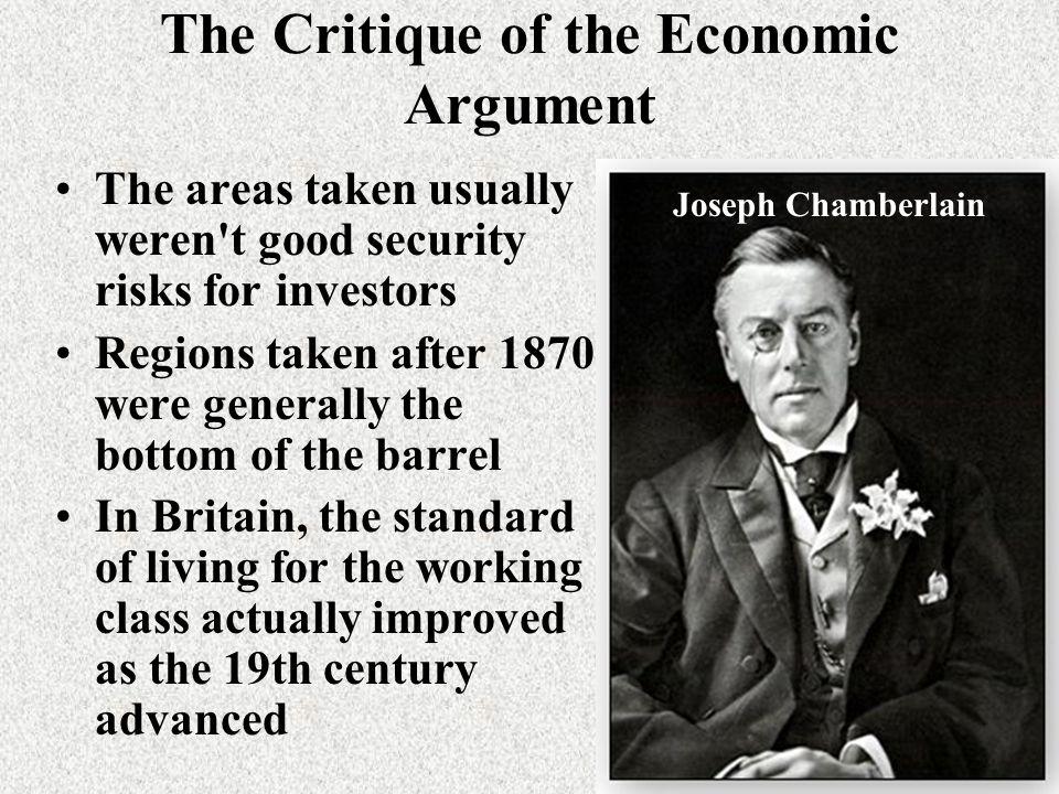 The Critique of the Economic Argument