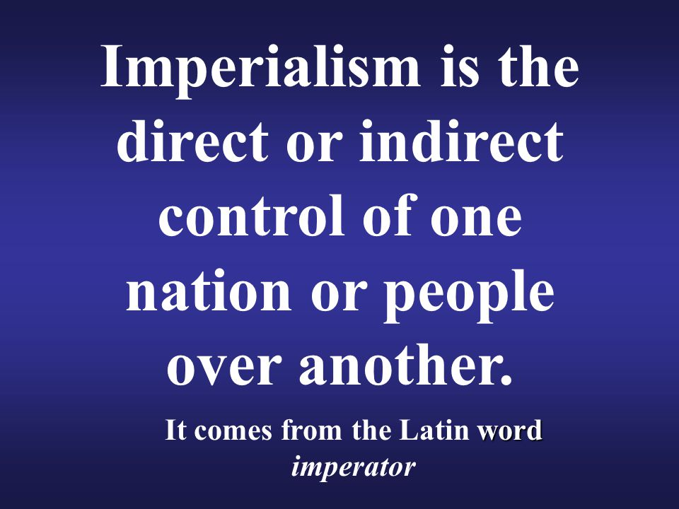 It comes from the Latin word imperator