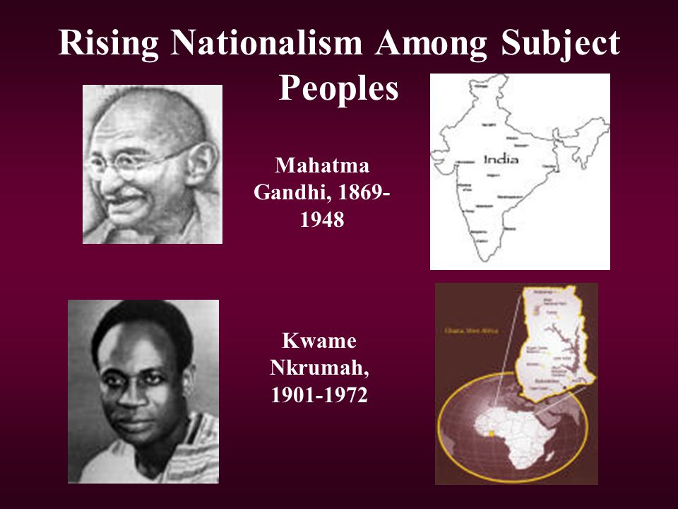 Rising Nationalism Among Subject Peoples