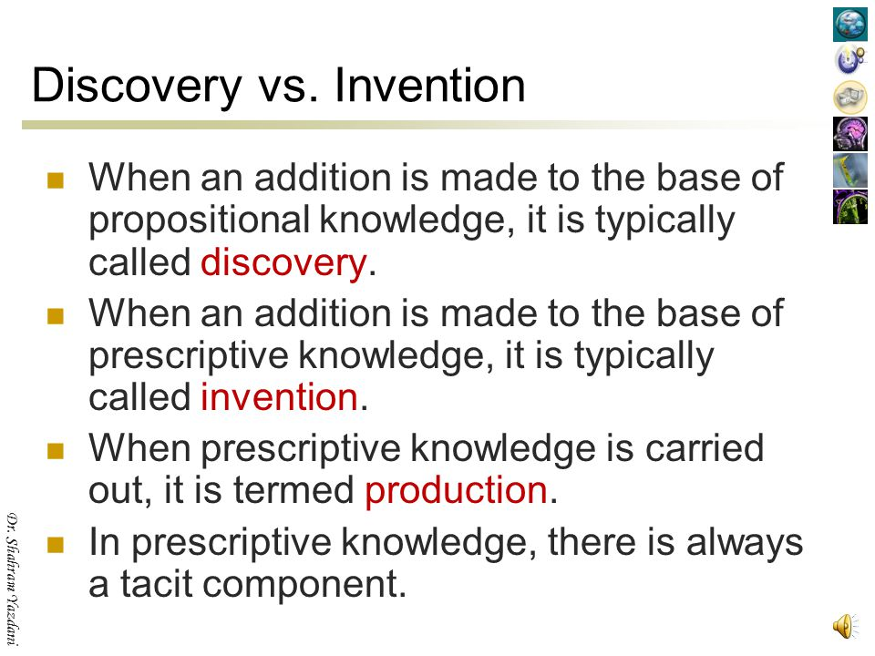 Discovery vs. Invention