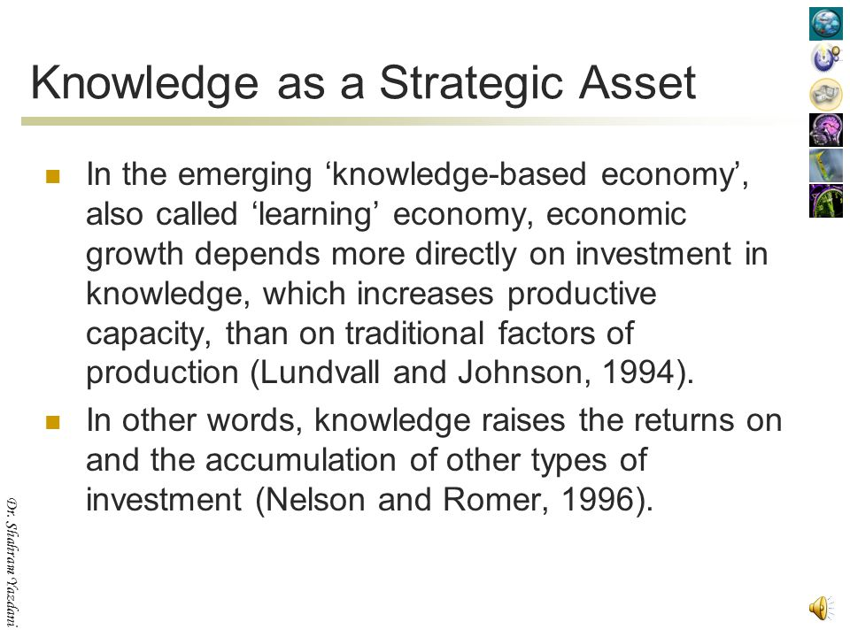 Knowledge as a Strategic Asset