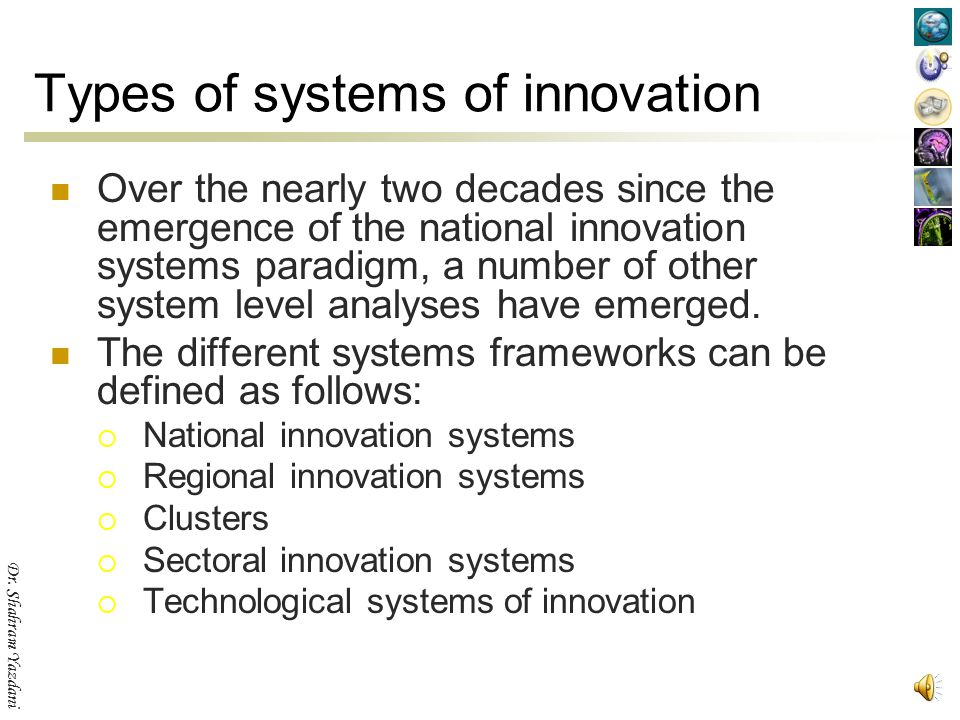 Types of systems of innovation