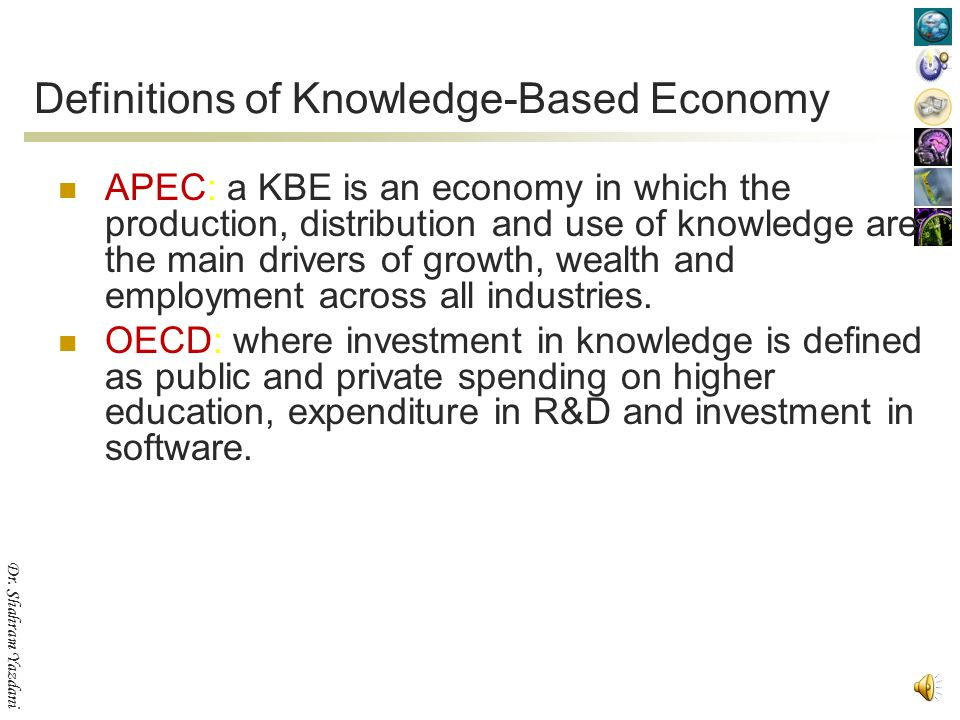 Definitions of Knowledge-Based Economy