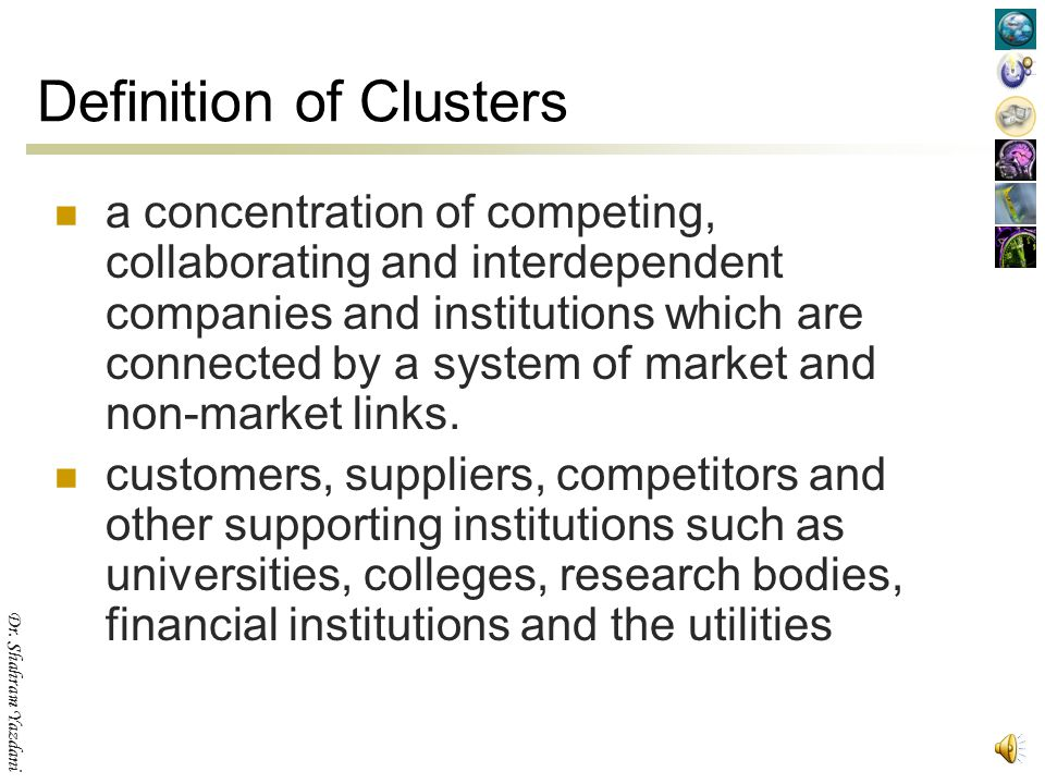 Definition of Clusters