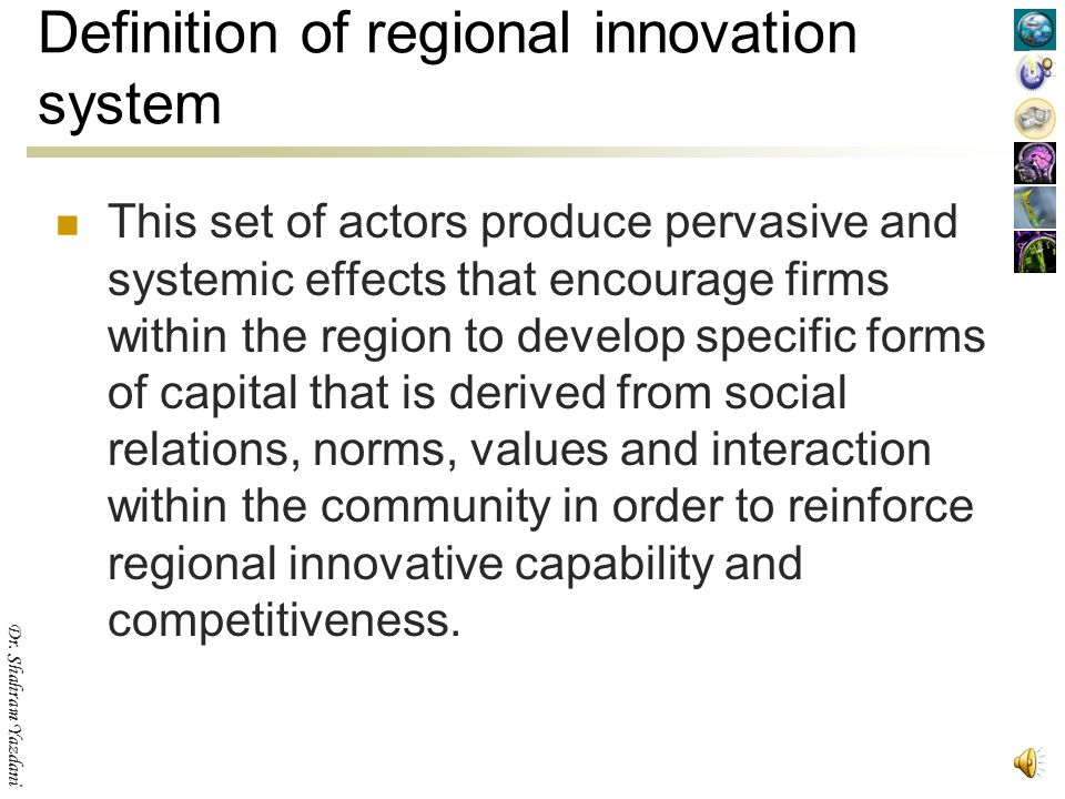 Definition of regional innovation system