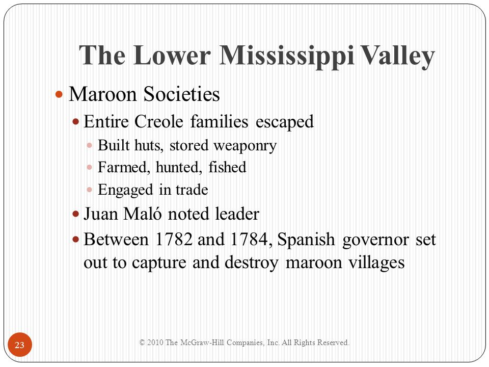 The Lower Mississippi Valley