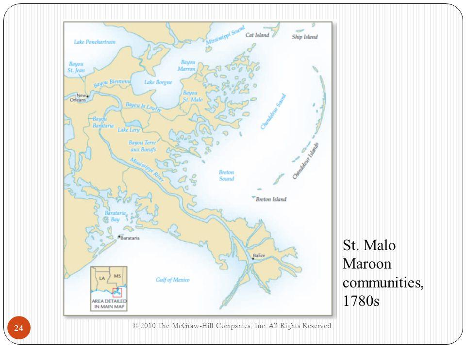 St. Malo Maroon communities, 1780s