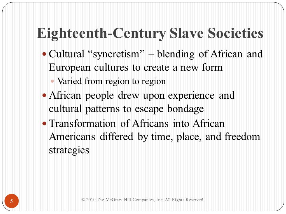 Eighteenth-Century Slave Societies