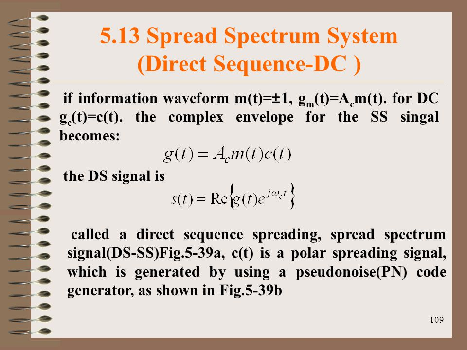 5.13 Spread Spectrum System (Direct Sequence-DC )