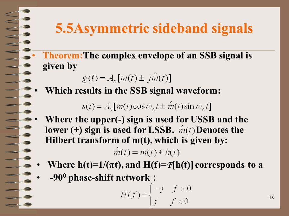 5.5Asymmetric sideband signals