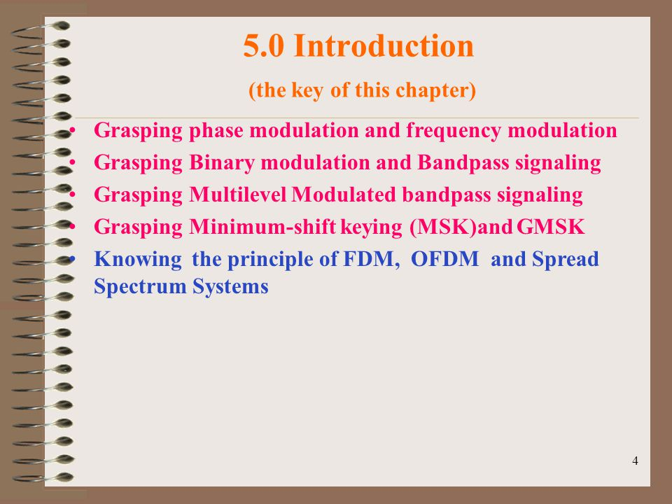 5.0 Introduction (the key of this chapter)