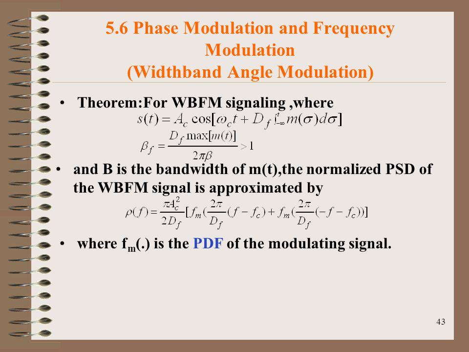 5.6 Phase Modulation and Frequency Modulation (Widthband Angle Modulation)
